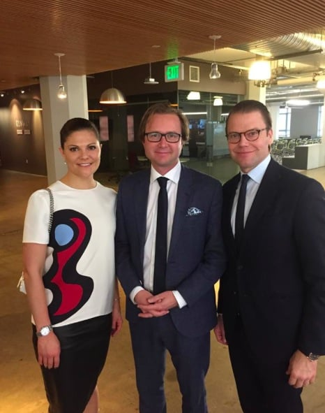 The Swedish royal family visits First Derm