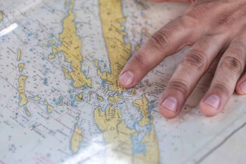 Tvätta Händerna - Karta, resa