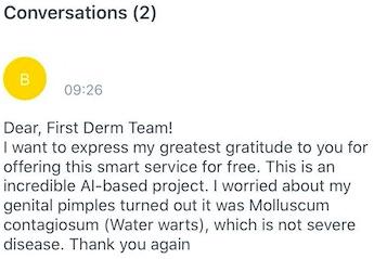 AI dermatology testimonial