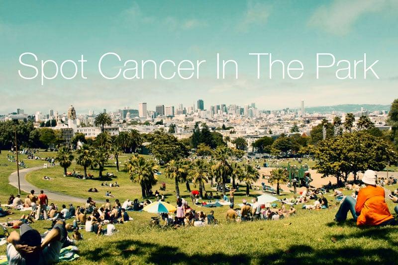 upptäck-cancer-undersökning-i-parken