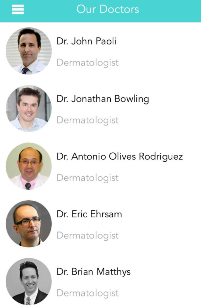 online dermatologists questions